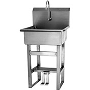 SANI-LAV 524 Floor Mount Sink With Double Foot Pedal Valve