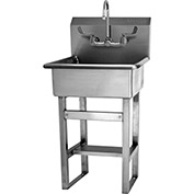 SANI-LAV 524F Floor Mount Sink With Faucet