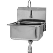 SANI-LAV 5251 Wall Mount Sink With Single Knee Pedal Valve