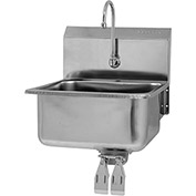 SANI-LAV 525L Wall Mount Sink With Double Knee Pedal Valve