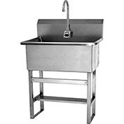 SANI-LAV 531FA Floor Mount Scrub Sink With AC Powered Sensor