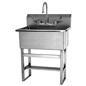 SANI-LAV 531FF Floor Mount Scrub Sink With Faucet