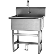 SANI-LAV 531FS Floor Mount Scrub Sink With Double Foot Pedal Valve