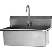SANI-LAV 532B Wall Mount Scrub Sink With Battery Powered Sensor