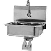 SANI-LAV 605D Wall Mount Sink With Double Knee Pedal Valve