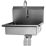 SANI-LAV 608 Wall Mount Sink With Double Knee Pedal Valve