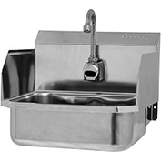 SANI-LAV ES2-607L Wall Mount Sink With AC Powered Sensor And Side Splash Guards