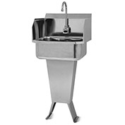 SANI-LAV ESB2-503L Floor Mount Sink With Battery Powered Sensor And Side Splash Guards