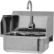 SANI-LAV ESB2-507L Wall Mount Sink With Battery Powered Sensor And Side Splash Guards