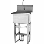 SANI-LAV U18182 Floor Mount Utility Sink With Double Foot Pedal Valve