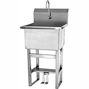 SANI-LAV U24242 Floor Mount Utility Sink With Double Foot Pedal Valve
