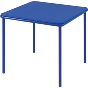 "Cosco® 24"" x 24"" Vinyl Top Juvenile Table With Screw In Legs Blue"