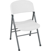 Cosco® Resin Folding Chair with Molded Seat and Back White Speckle 4-Pack