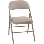 Cosco® Vinyl Folding Chair Antique Linen 4-Pack