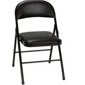 Cosco® Vinyl Folding Chair Black 4-Pack