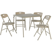 "Cosco® Folding Table and Chair Set - 34"" x 34"" - Antique Linen"