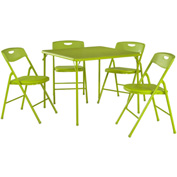 "Cosco® Folding Table and Chair Set - 34"" x 34"" - Apple Green"
