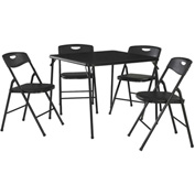 "Cosco® Folding Table and Chair Set - 34"" x 34"" - Black"