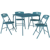 "Cosco® Folding Table and Chair Set - 34"" x 34"" - Teal"