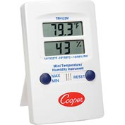 Cooper Mini Wall Thermometer, Trh122m-0-8, Digital Temperature & Humidity, Dual Display