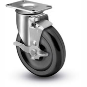 "Colson® 2 Series Swivel Plate Caster 2.03256.53 BRK1 Polyolefin With Brake 3-1/2"" Dia. 230 Lb."