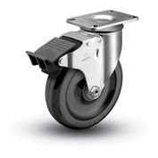 "Colson® 2 Series Swivel Plate Caster 2.03256.55 BRK5 Polyolefin With Brake 3-1/2"" Dia. 230 Lb."