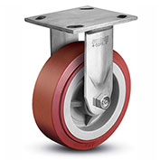 "Colson® 4 Series Rigid Plate Caster 4.04108.929 SS - Polyurethane on Polyolefin 4""Dia. 600 Lb."