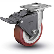 "Colson® 4 Series Swivel Plate Caster 4.04109.929 BRK2 SS Poly With Brake 4"" Dia. 600 Lb."