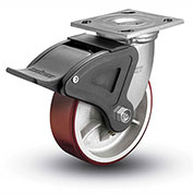 "Colson® 4 Series Swivel Plate Caster 4.05109.949.7 BRK4 Polyurethane With Brake 5"" Dia. 1000 Lb"