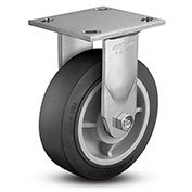 "Colson® 4 Series Rigid Plate Caster 4.06108.459.2 - Rubber on Polyolefin 6"" Dia. 600 Lb. Cap."