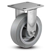 "Colson® 4 Series Rigid Plate Caster 4.06108.459 - Rubber on Polyolefin 6"" Dia. 600 Lb. Cap."