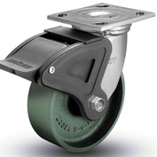 "Colson® 4 Series Swivel Plate Caster 4.06109.139 BRK4 Cast Iron With Brake 6"" Dia. 1200 Lb."
