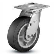 "Colson® 4 Series Swivel Plate Caster 4.06109.459.2 - Rubber on Polyolefin 6"" Dia. 600 Lb. Cap."