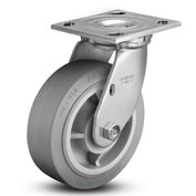 "Colson® 4 Series Swivel Plate Caster 4.06109.459 - Rubber on Polyolefin 6"" Dia. 600 Lb. Cap."