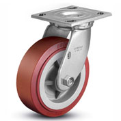 "Colson® 4 Series Swivel Plate Caster 4.06109.929 - Polyurethane on Polyolefin 6"" Dia. 900 Lb."