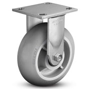 "Colson® 4 Series Rigid Plate Caster 4.08198.559 - Rubber on Polyolefin 8"" Dia. 600 Lb. Cap."