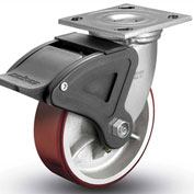 "Colson® 4 Series Swivel Plate Caster 4.08199.949.7 BRK4 Polyurethane With Brake 8"" Dia. 1250 Lb"