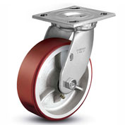 "Colson® 4 Series Swivel Plate Caster 4.08199.949.7 - Mold-On Polyurethane 8"" Dia. 1250 Lb. Cap."
