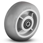 Colson® 2 Series Wheel 5.00008.559 WS - 8 x 2 Performa Rubber 1/2 Straight Roller Bearing