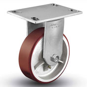 "Colson® 6 Series Rigid Plate Caster 6.04208.949.7 - Mold-On Polyurethane 4"" Dia. 700 Lb. Cap."