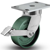 "Colson® 6 Series Swivel Plate Caster 6.04289.139 BRK1 Cast Iron With Brake 4"" Dia. 1000 Lb."