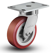 "Colson® 6 Series Swivel Plate Caster 6.04289.929 - Polyurethane on Polyolefin 4"" Dia. 600 Lb."