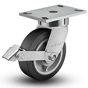 "Colson® 6 Series Swivel Plate Caster 6.06289.459.2 BRK1 Rubber Tread Lock Brake 6"" Dia. 600 Lb."