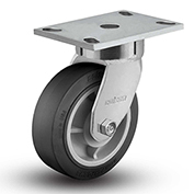 "Colson® 6 Series Swivel Plate Caster 6.06289.459.2 - Rubber on Polyolefin 6"" Dia. 600 Lb. Cap."