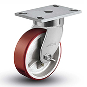 "Colson® 6 Series Swivel Plate Caster 6.06289.949.7 - Mold-On Polyurethane 6"" Dia. 1200 Lb. Cap."