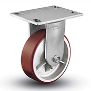"Colson® 6 Series Rigid Plate Caster 6.08288.949.7 - Mold-On Polyurethane 8"" Dia. 1500 Lb. Cap."