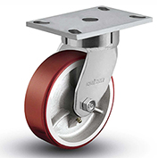 "Colson® 6 Series Swivel Plate Caster 6.08289.949.7 - Mold-On Polyurethane 8"" Dia. 1500 Lb."