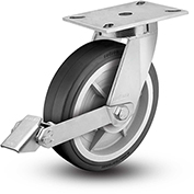 "Colson® 7 Series Swivel Plate Caster 7.12689.459.2 LH15.5 BRK1 With Brake 12"" Dia. 1700 Lb."