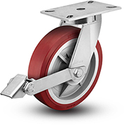 """Colson® 7 Series Swivel Plate Caster 7.12689.979.7 LH15.5 BRK1 With Brake 12"""" Dia. 3500 Lb."""