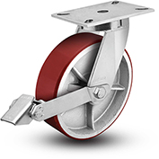 "Colson® 7 Series Swivel Plate Caster 7.12689.989 LH15.5 BRK1 With Brake 12"" Dia. 1700 Lb. Cap."